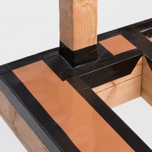 Use the butyl tape to cover all joists and seams and anywhere a deck screw can penetrate.