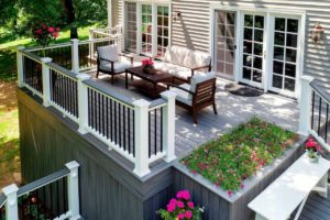 Beautiful outdoor elevated deck